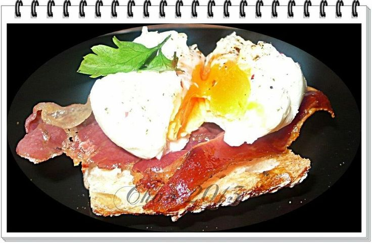 """Otra receta más de Juan Manuel Romero Lopez - Chao """"Huevos escalfados con crujiente de #jamon"""".  Riquísima.  http://cocinachao.blogspot.com.es/2013/09/huevos-escalfados-con-crujiente-de-jamon_29.html"""