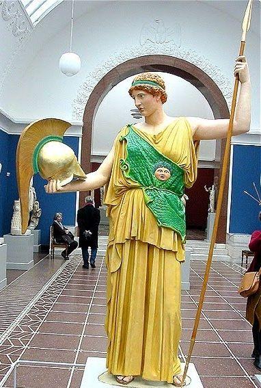 Pintura original de escultura romana.