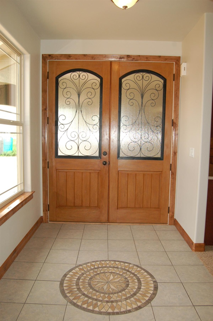 Tile and front entry of a custom home by G.J. Gardner Homes