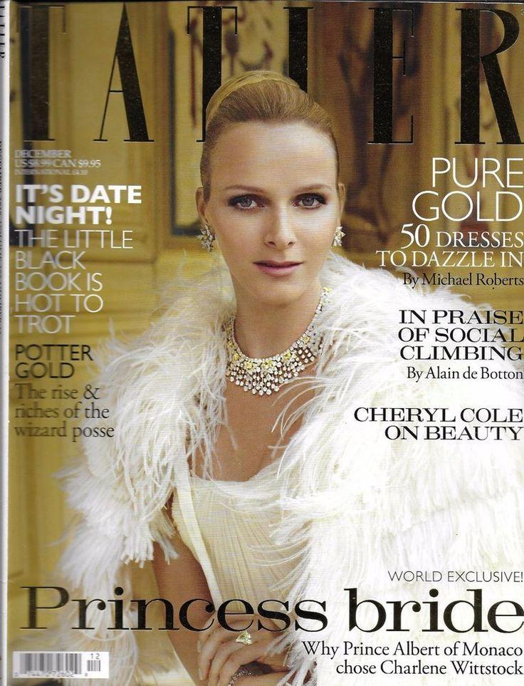 Tatler magazine Charlene Wittstock Cheryl Cole Helen Macintyre Palumbo family