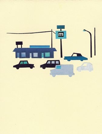 Blue town. Tawashi Iwasaki