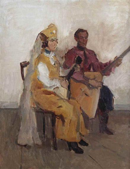 Isaac Israëls - Balaleika players; Creation Date: 1918 - 1928; Medium: oil on canvas