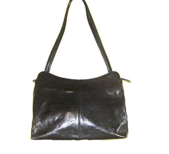GENUINE LEATHER HANDBAG Italian Leather Handbag by EuropeanRetro