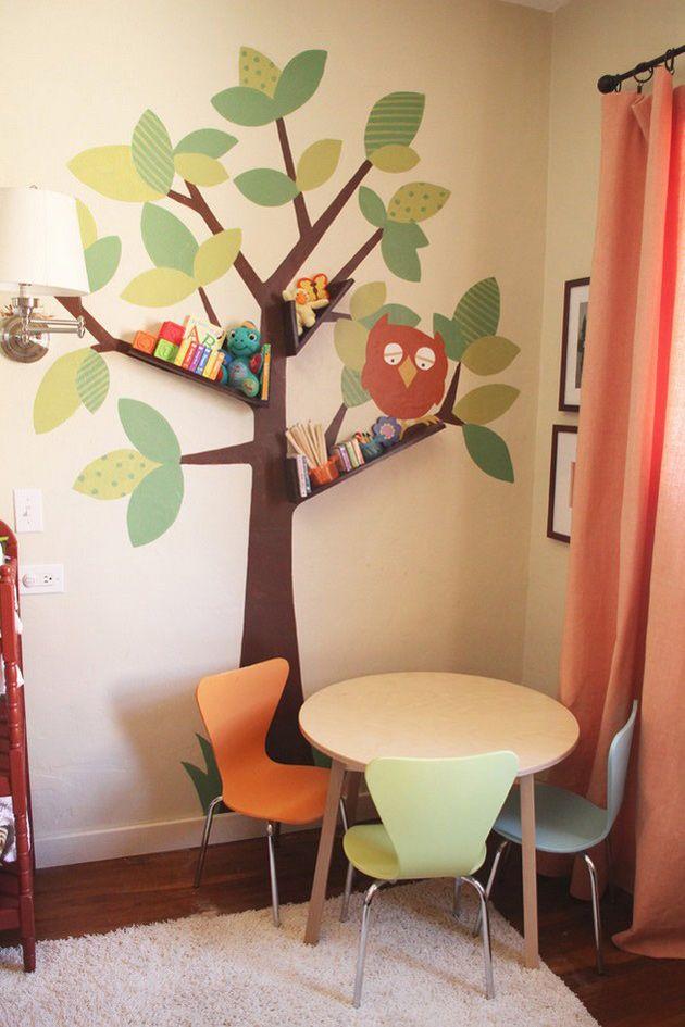 декор дерево в детской комнате