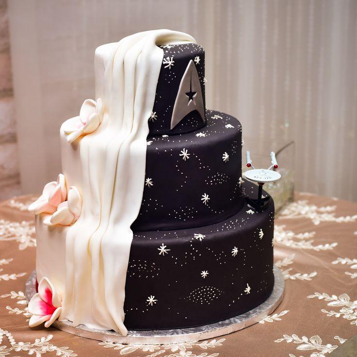 My awesome Star Trek Cake from my wedding (2-27-16)