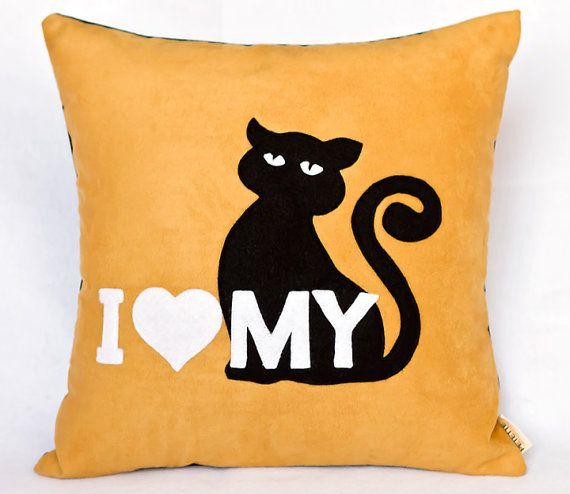 """I love my cat"" pillow"