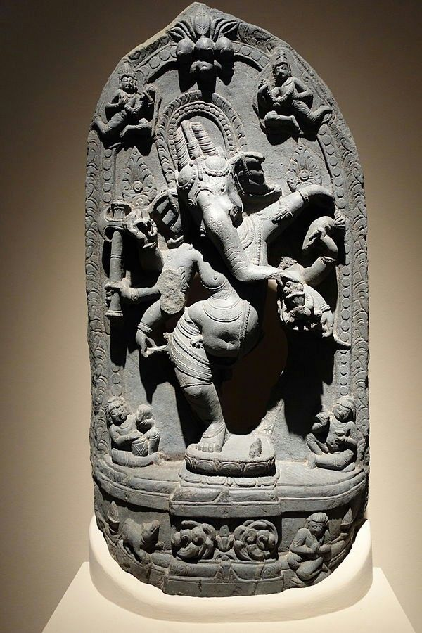 Dancing Ganesha India, Pala Period late 11th century blackstone Chazen Museum of Art