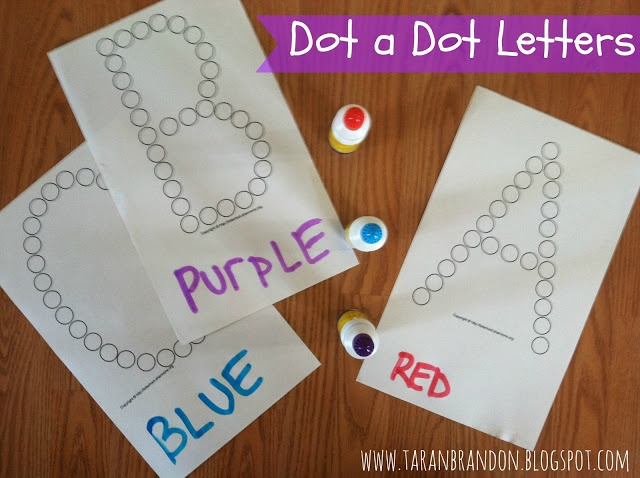 DOT TO DOT LETTERS- Toddler Learning Activites