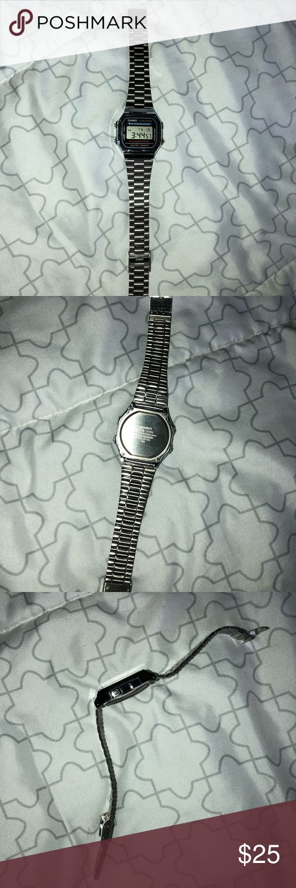 Casio watch Cute silver casio watch! Works fine and doesn't have scratches!? Casio Accessories Watches