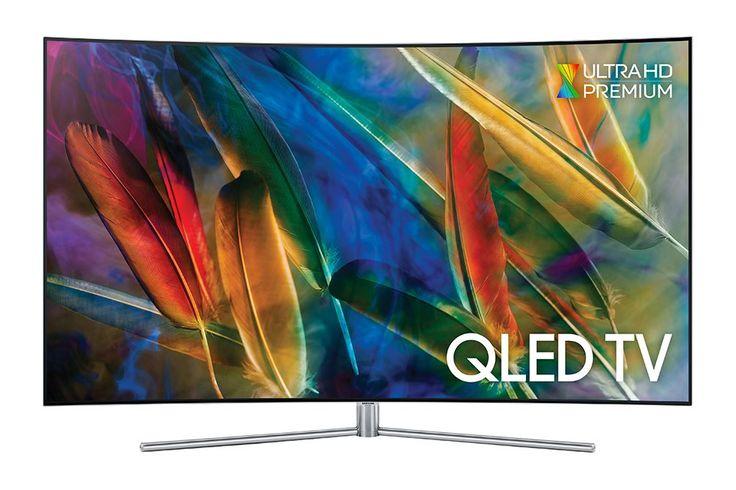 """Samsung QE55Q7C  Description: Samsung Samsung QE55Q7CAMLXXN: 55"""" Curved kijkplezier Op het scherm van de Samsung QE55Q7CAMLXXN geniet je elke keer weer van de perfecte kleuren en van intens detail. Deze QLED TV geeft een perfect beeld dankzij de nieuwe Quantum Dot technologie. Samsung heeft QLED ontwikkeld en bestaat uit drie pijlers: Q PICTURE Q STYLE en Q SMART. Deze pijlers geven aan elke film en elke serie een prachtige kijkervaring. De QE55Q7CAMLXXN is een Smart TV met een handige One…"""