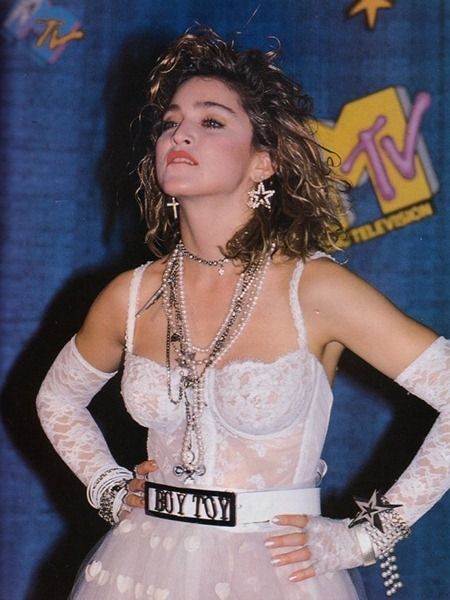 Heart sHAPED polka dots  WE ♥ MADONNA Madonna Like a Virgin at the 1984 MTV Video Music Awards. 1984, www.imageamplified.com, Image Amplified (8)
