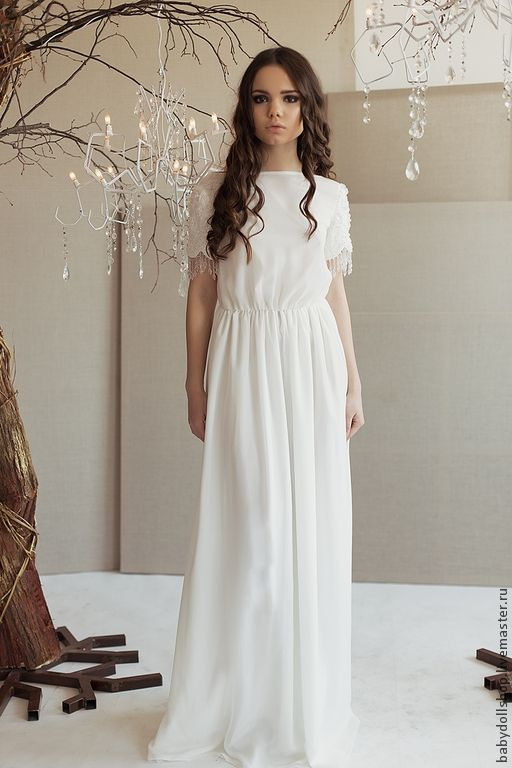 Платье SS15 – купить или заказать в интернет-магазине на Ярмарке Мастеров | Длинное платье в пол из шелкового шифона с…