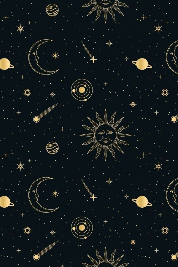 Celestial Iphone Wallpaper Sun Moon Stars Witchy Wallpaper Mystic Wallpaper Space Phone Wallpaper