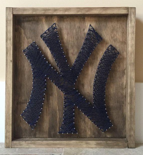 NY Yankees Nail and String Art Yankees New York  String Art