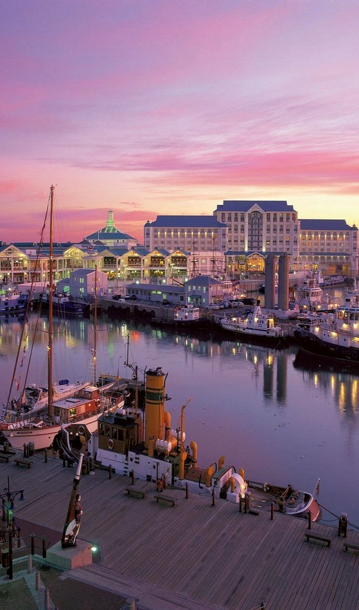 The wharf at Cape Town, South Africa