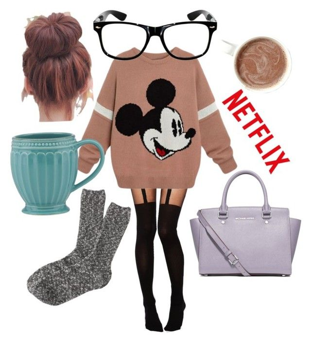 """#2 netflix nd choco"" by matilda-key on Polyvore featuring ASOS, MICHAEL Michael Kors, Lenox, J.Crew, women's clothing, women, female, woman, misses and juniors"