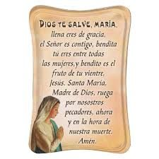 Image result for hail mary in spanish