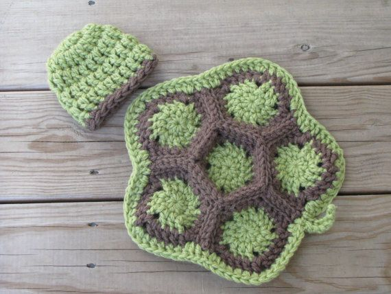 A crochet turtle prop with an attachable bow or flower suitable prop for any boy or girl! :O)   Attach the bow/flower to the hat or shell, wherever