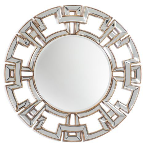 Pierre Mirror from Z Gallerie #zgallerie. When I saw this mirror I instantly fell in love with it! I think the gold and silver color, and amazing border adds a unique yet sophisticated element to the living room.