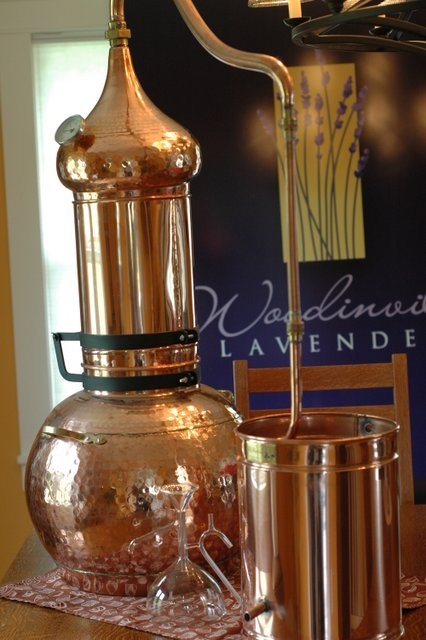 A copper still at Woodinville Lavender in Washington State.