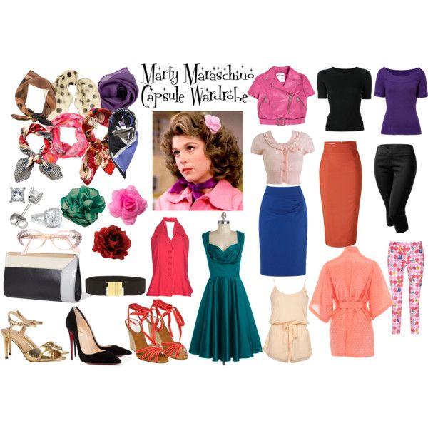 """Marty Maraschino Capsule Wardrobe"" by littlemissniamhy on Polyvore"