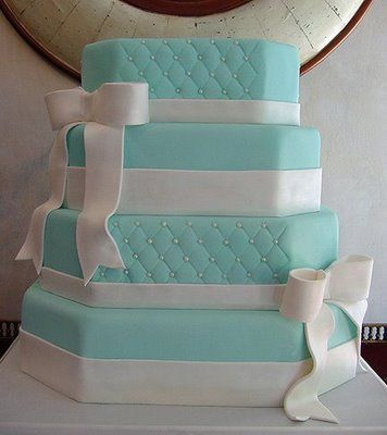 #Tiffany inspired #wedding #cake