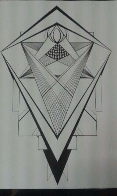 By J. Constantine  Loving straight lines and triangles at the moment...