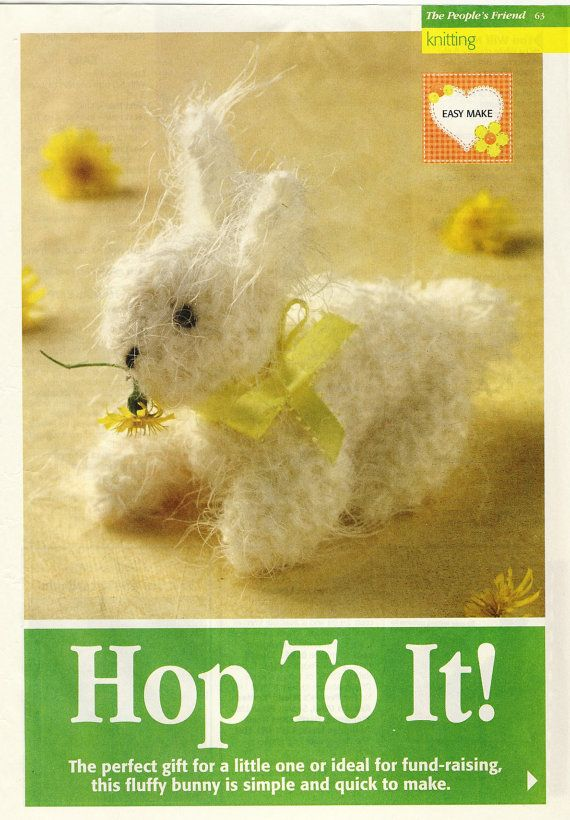 37 best toy patterns to make soft toys images on pinterest val pierce fluffy easter bunny rabbit soft toy knitting pattern by patternaliavintage negle Image collections
