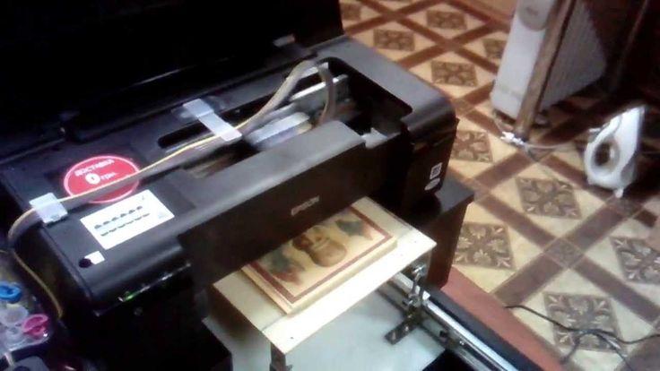 Переделка принтера EPSON WorkForce 30 для печати на дереве, ткани и друг...