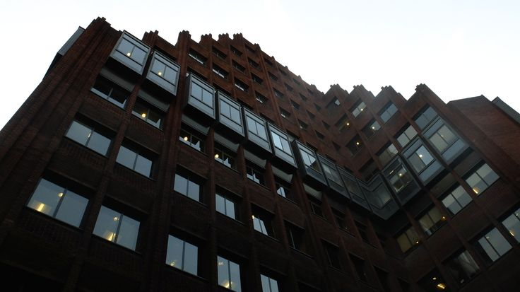 I really like this building, it seems to me like a modern-day fort in it's modest brick work.