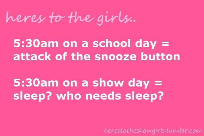 Heres To The Show Girls