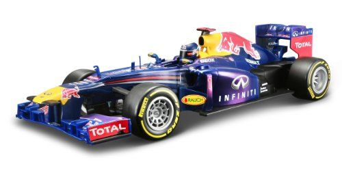 #PopularKidsToys Just Added In Store! Maisto 1:18 Scale Red Bull RB9 with Sebastian Vettel Radio Controlled Model Car - [gallery] Remote control model of a Red Bull RB9 car as driven by Sebastian Vettel and Mark Webber in the 2013 Formula One racing season. This 1:18 scale RC car sports all of the features found on the full size F1 car, including faithfully reproduced graphics and a highly detailed authentic body shape. Its responsive controller gives the user full function c