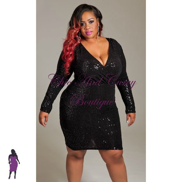 black sequin dress plus size - Sizing