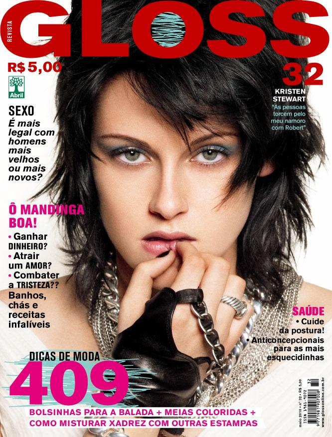 Revista Gloss - Edição Número 32 - Kristen Stewart - Maio/10