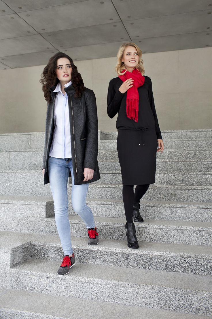 #danhen #fw2015 #jesien #kampania #campaign #coat #casual  http://www.danhen.com/product-pol-289-Czarny-plaszcz-i-sukienka.html