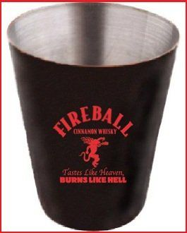 "in Good Spirits: Fireball Cinnamon Whisky.  Originally marketed as ""Dr. McGillicuddy's Fireball Whisky,"" Fireball is a low-proof cinnamon-flavored, whiskey-based liqueur.  http://goodspiritsonline.com/liqueurs/Fireball.html"