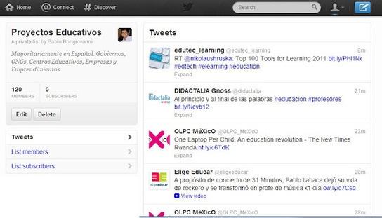 120 proyectos educativos para seguir en Twitter