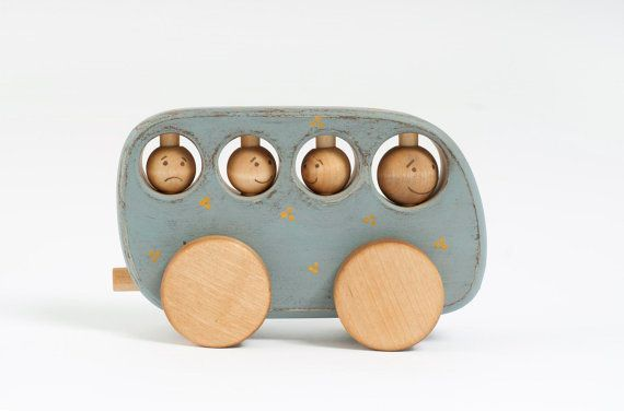 Wooden Rustic Toy Bus ecofriendly kids toy by FriendlyToys on Etsy, $27.00