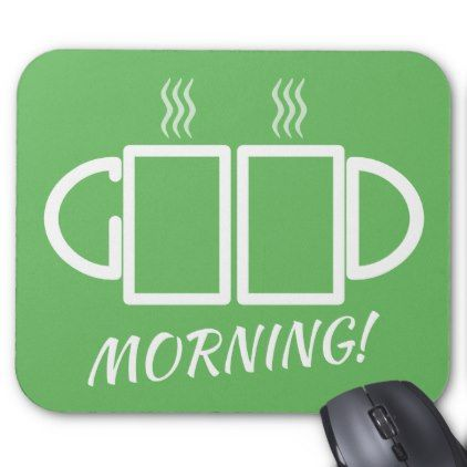 Good Morning! Puzzle Mousepad  $13.00  by ahapuzzles  - cyo customize personalize unique diy