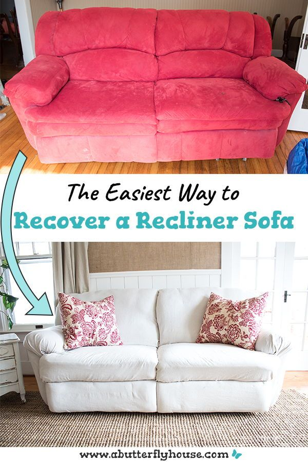 How To Reupholster A Couch Without Removing The Old Fabric A Butterfly House In 2020 Reupholster Couch Couch Fabric Sofa Reupholstered