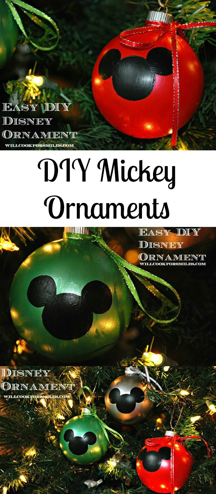 Easy DIY Disney Ornaments | from willcookforsmiles.com #ornaments #disney