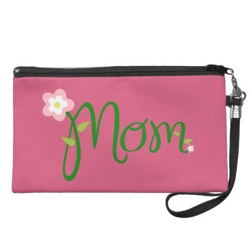 Mom Dark Pink Wristlet - #holidaytreats #windywinters #zazzle