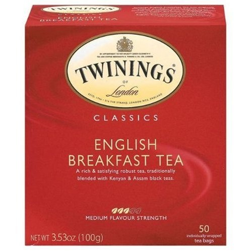 Twinings English Breakfast Tea - this was my favorite hot tea even before Fifty Shades of Grey.
