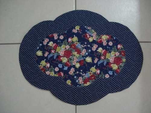 jogo americano patchwork azule floral - Pesquisa Google