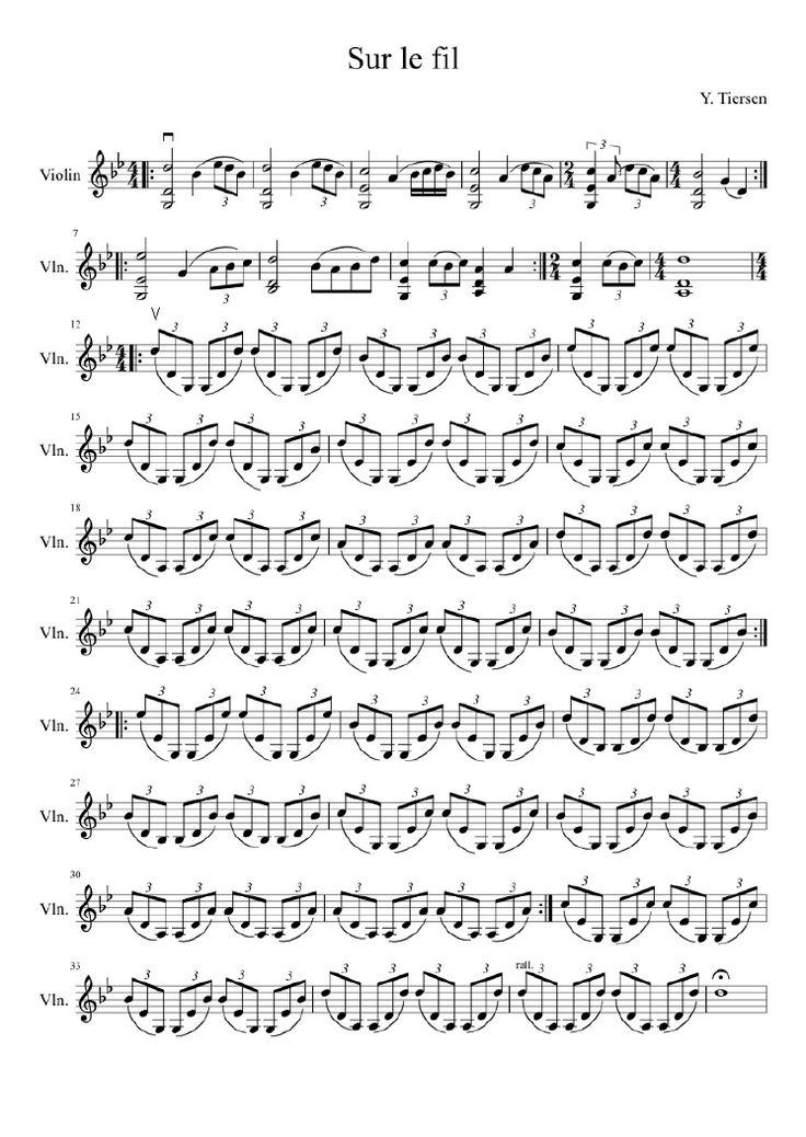 Masterpiece by Yann Tiersen, version for violin.