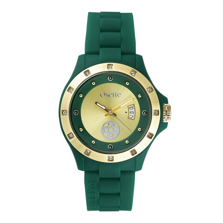 Oxette Green Pop Watch - Available here  http://www.oxette.gr/rologia/s.steel-gold-plated-pop-green-watch-656l-1/       #oxette #OXETTEtimewear #OXETTEwatch #watches