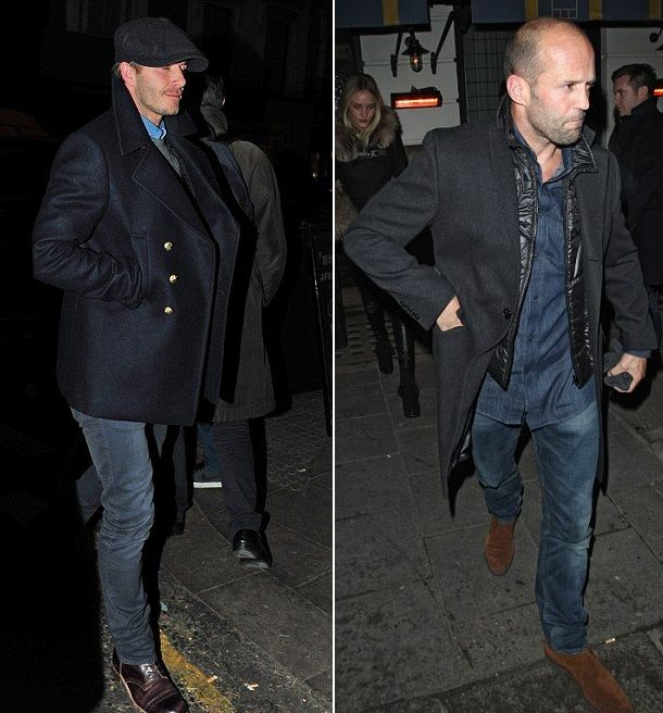 Jason Statham and David Beckham
