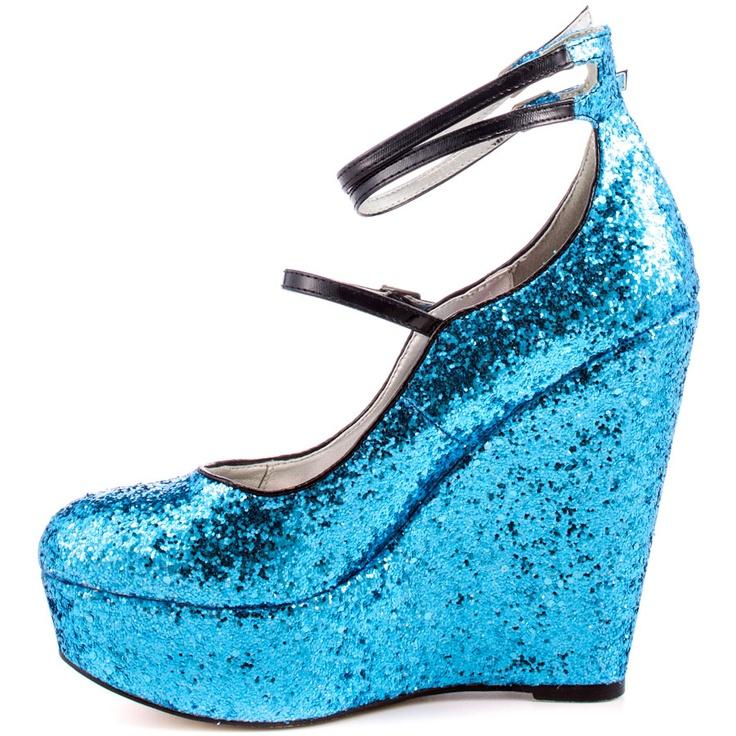 Rupaul Women's Wonderland Wedge - Light Blue
