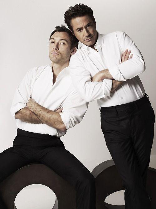 Jude Law & Robert Downey Jr.