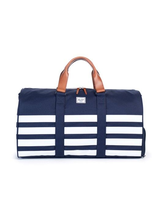 Herschel Novel Striped Duffle Bag Navy - BLACK FRIDAY SALE NOW ON!!!
